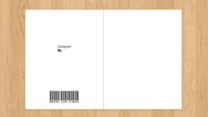blank christmas card template
