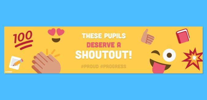 emoji shoutout banner