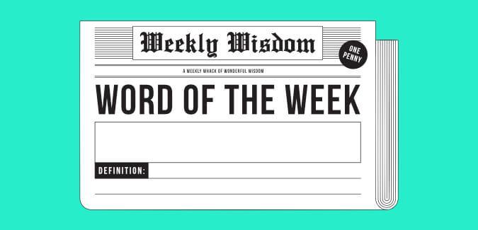 word of the week newspaper