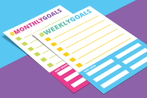 free weekly monthly goals planner printable