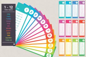 1-12 times table fan deck printable multiplication