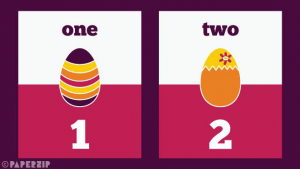 free easter egg numbers for classroom display