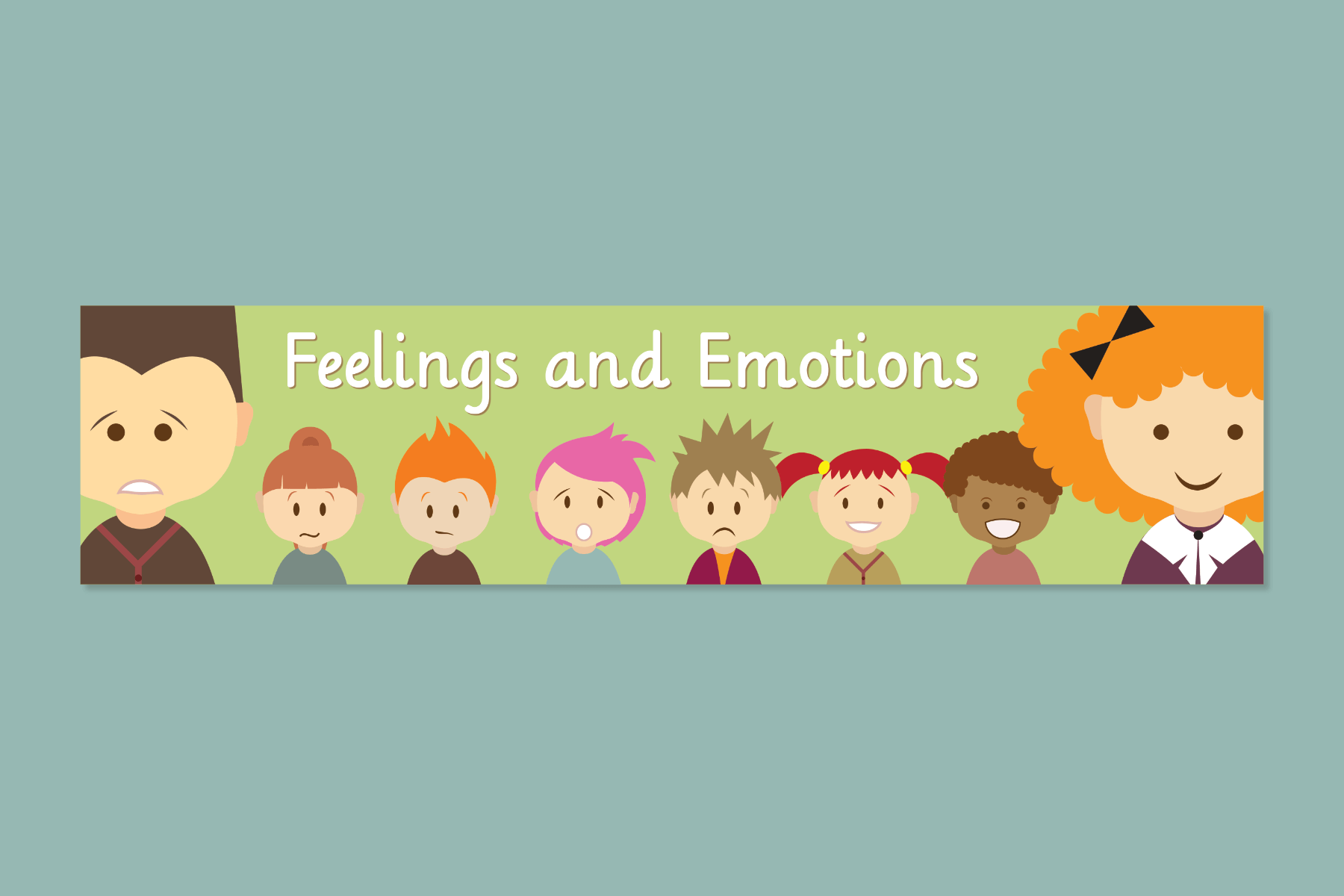 character expressions banner classroom free