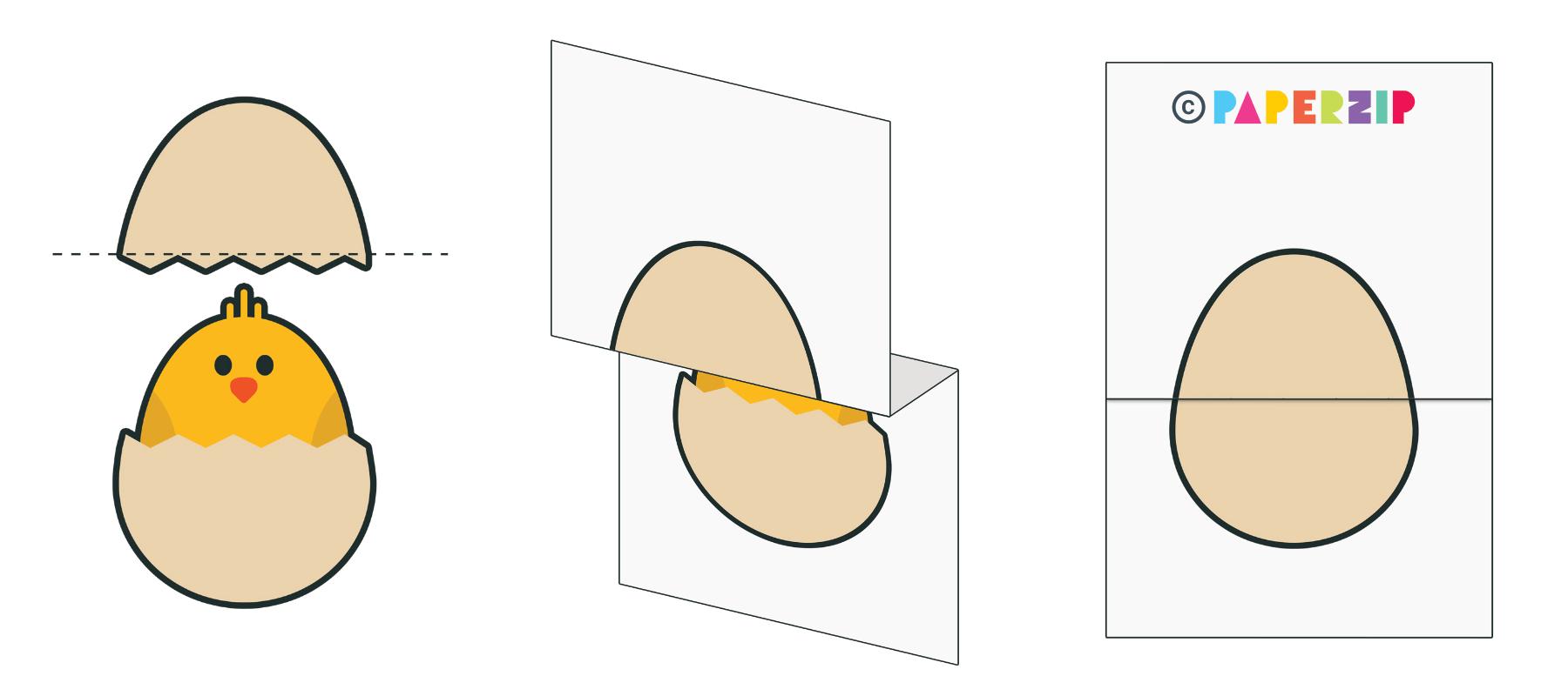 foldable egg template for children