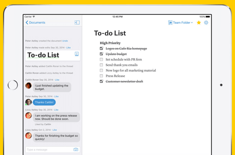 quip collaboration app ipad iphone android