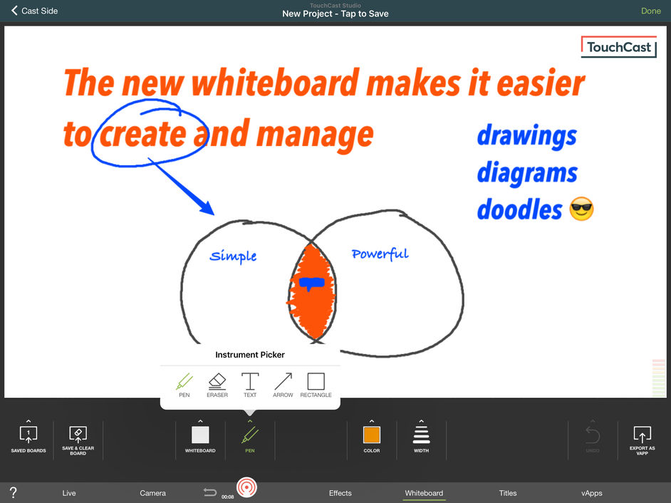 touchcast green screen app presentation ipad
