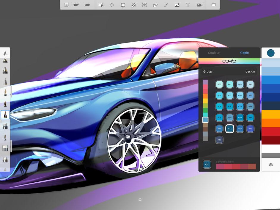 drawing painting ipad autodesk sketchbook app