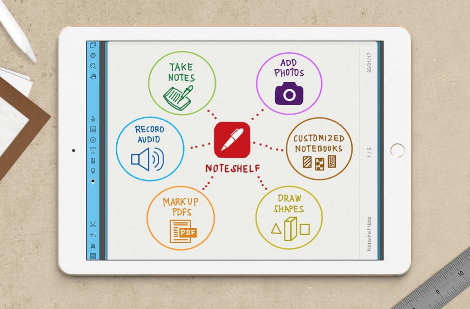 noteshelf organisation app for going paperless ipad